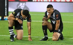Down and out - the World Cup is over for the Kiwis.