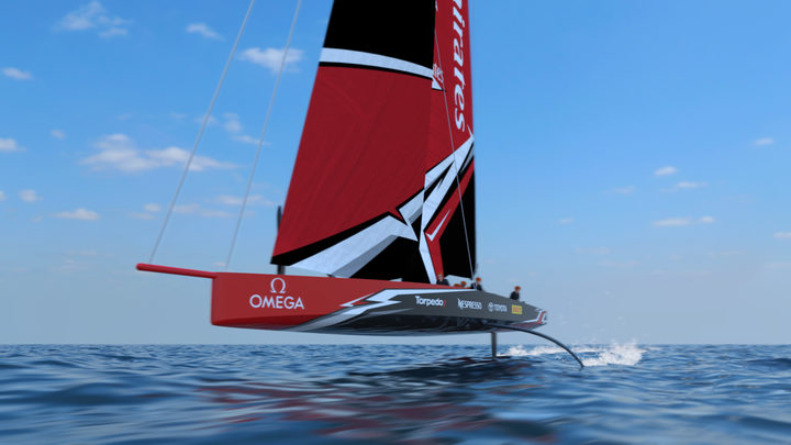 New monohull boat design unveiled for 2021 America's Cup