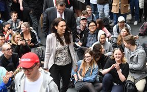 Jacinda Ardern during a visit to Victoria University in September.