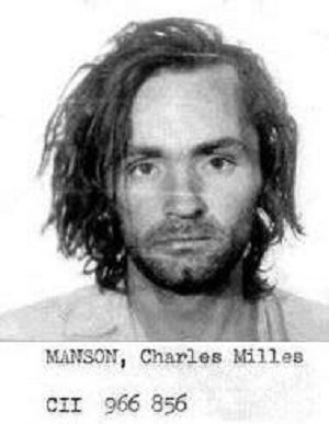Charles Manson's booking photo in 1971.
