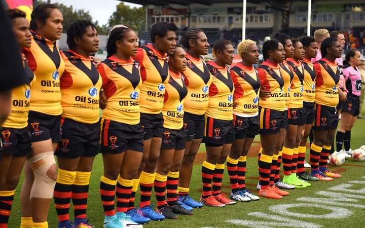 The PNG Orchids are competing in their first Women's Rugby League World Cup.