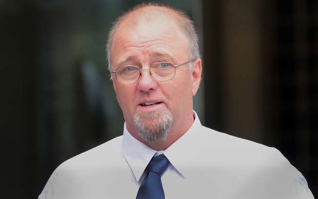 Mark Lundy outside the High Court in Wellington.