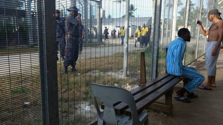 Manus Island detainees and security.