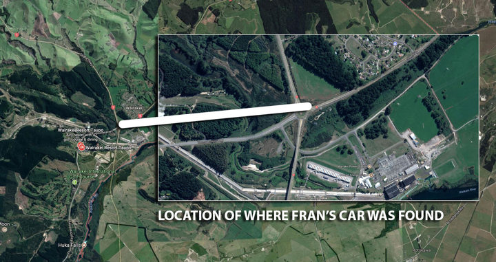 Location of where Fran Martin's car was found on State Highway 1 in Wairakei. Photo /  Google maps