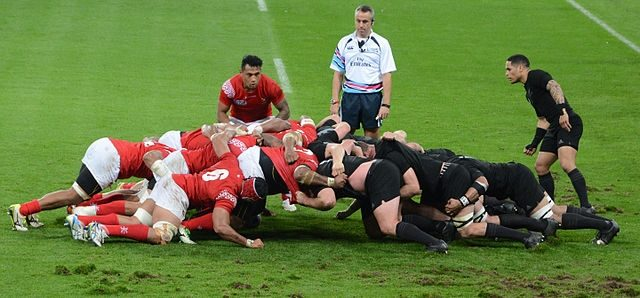 2015 Rugby World Cup match New Zealand vs Tonga at St. James' Park, Newcastle upon Tyne.
