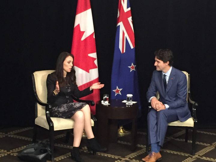 The Prime minister, Jacinda Ardern and Canadian Prime minister, Justin Trudeau at APEC