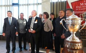 Guests and finalists at the Maori farming excellence awards.