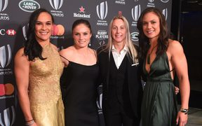 Portia Woodman, Michaela Blyde, Kelly Brazier and Ruby Tui, World Rugby Awards 2017.