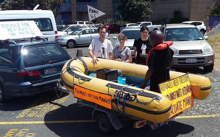 Activists from Peace Action Wellington.