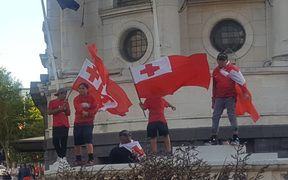 Tonga fans are unhappy with the result of Saturday's semi-final against England.