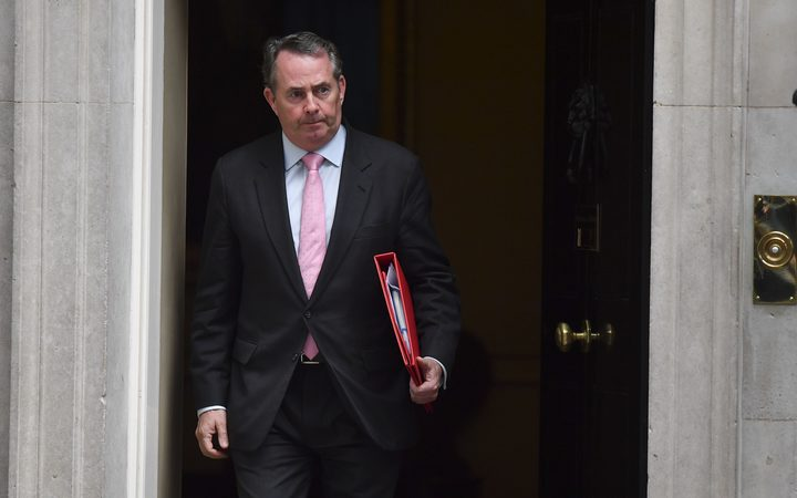 Britain's International Trade Secretary Liam Fox leaving 10 Downing Street, on November 22, 2017.