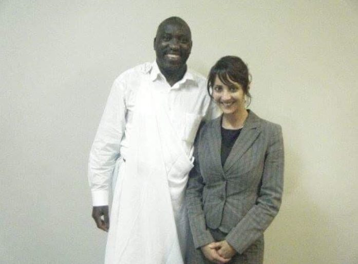 Green MP Golriz Ghahraman with Simon Bikindi, a Rwandan pop singer accused of inciting genocide.