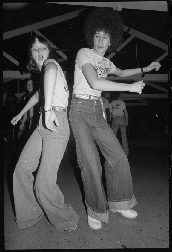1970s punters doing 'The Bump'
