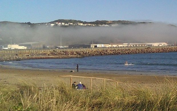 Fog at the airport and Lyall Bay began to lift on Thursday evening.
