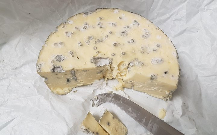The first blue cheese made from the mould found in hay at Shenley Station.