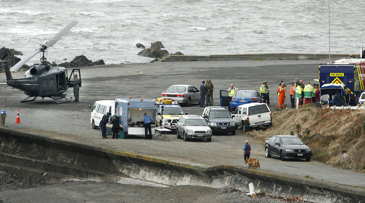 A view of the base for the emergency services near Pukerua Bay.