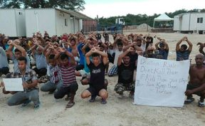 117th daily protest on Manus Island, West Lorengau, 27-11-17