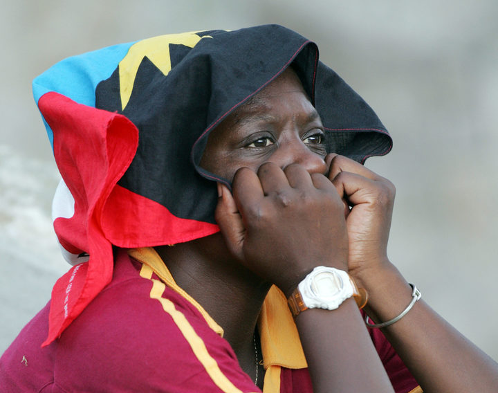 A disappointed West Indies cricket fan.