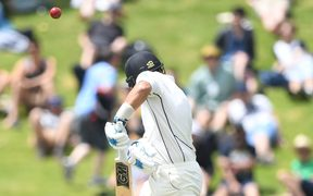 Ross Taylor gets a top edge.