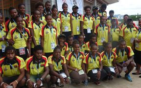 Members of the Vanuatu Mini-Games delegation