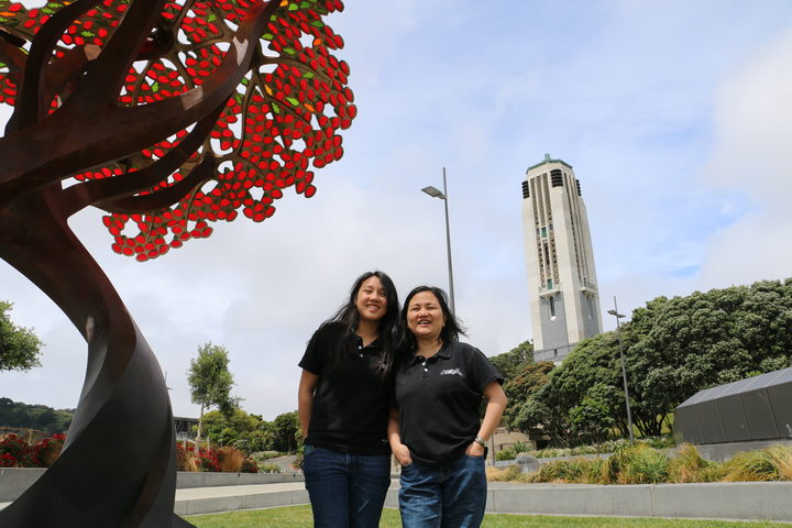 """We love Wellington"" Meia Lopez (right) and daughter Kathy at Puke Ahu Park."