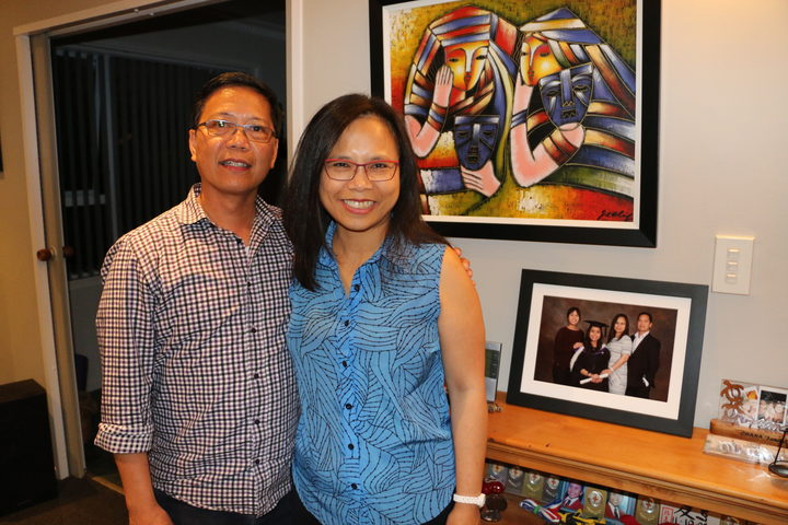 Ric Benitez and his wife Resi at home in Upper Hutt