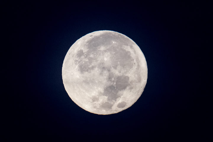 The supermoon seen in Yangon on 4 December.