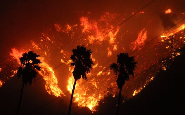 Wildfires near Los Angeles forced thousands to flee their homes.