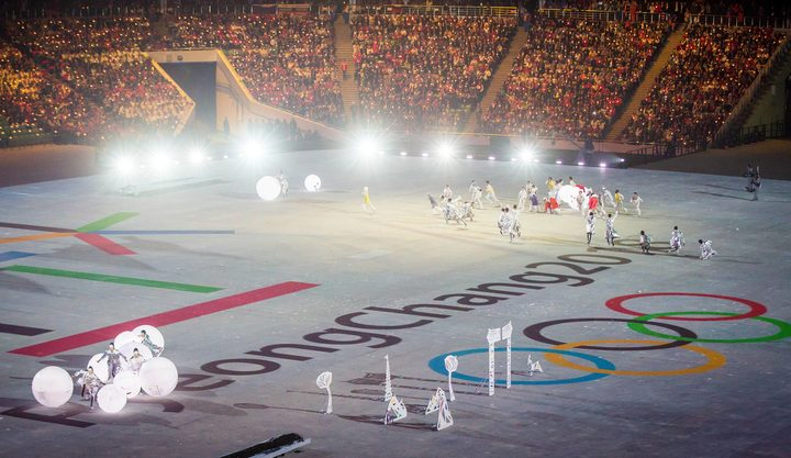 The Performance at The Closing Ceremony for The 22nd Winter Olympic Games in Sochi Russia