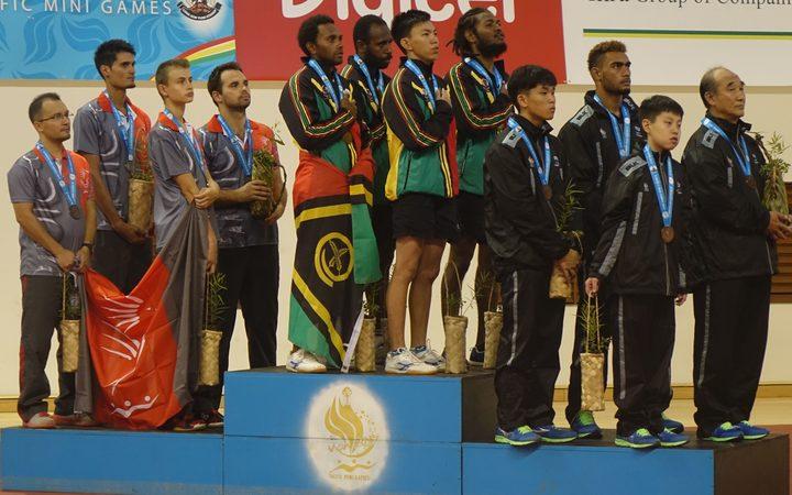 Vanuatu's men's table tennis team win an historic gold