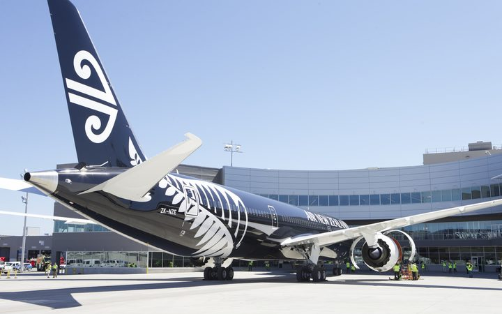 An Air New Zealand 787-9 Dreamliner.