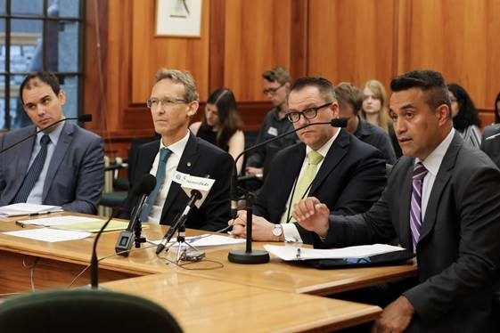 New Zealand Ministry of Foreign Affairs and Trade officials at a parliamentary select committee briefing on West Papua, 7 December 2017