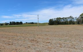A paddock in Cheviot in the Hurunui District is dry as a bone.