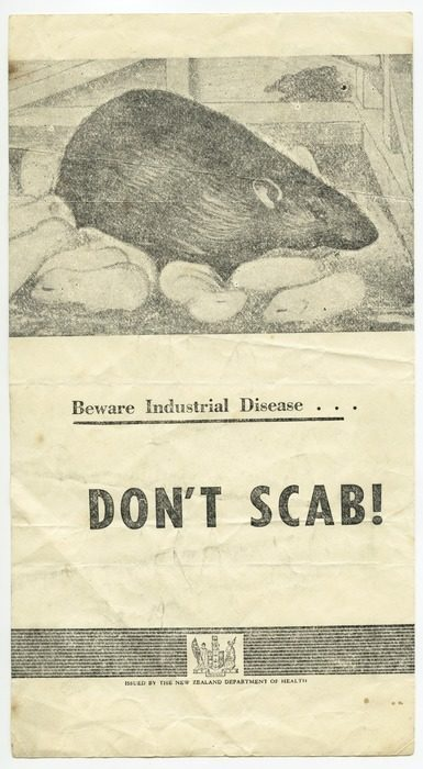 An Image Of A Flier Issued By Industrial Unions During The Waterfront Strike In 1951