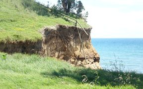 An example of the erosion that is worrying residents.