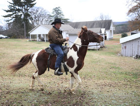 Roy Moore arrived at the polling station on horseback.
