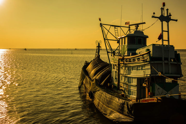 A fishing boat in Thailand.
