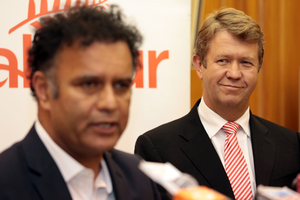 A pleased-looking David Cunliffe with his new chief of staff.