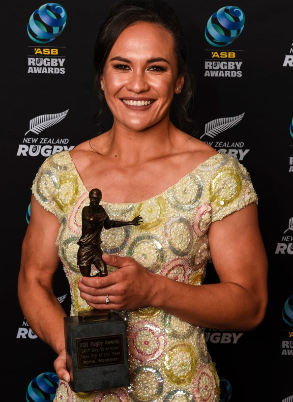 SKY TV Fan's Try of the Year award winner Black Ferns Portia Woodman.