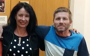 John Patrick (right), with lawyer Sue Grey, was arrested in October and will face a jury trial some time next year