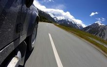 4WD driving towards Mt Cook