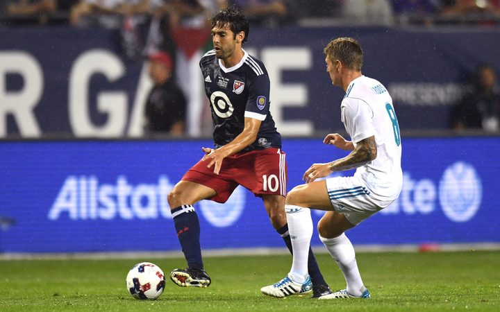 Kaka in action for the MLS All Stars against Real Madrid in August.