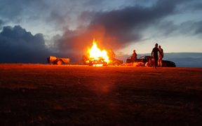 The bonfire on Moungarua.