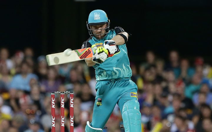 Brendon McCullum playing for the Brisbane Heat in the Australian Big Bash League.