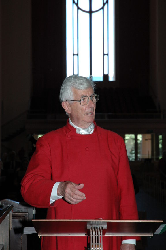 Peter Godfrey in Wellington Cathedral