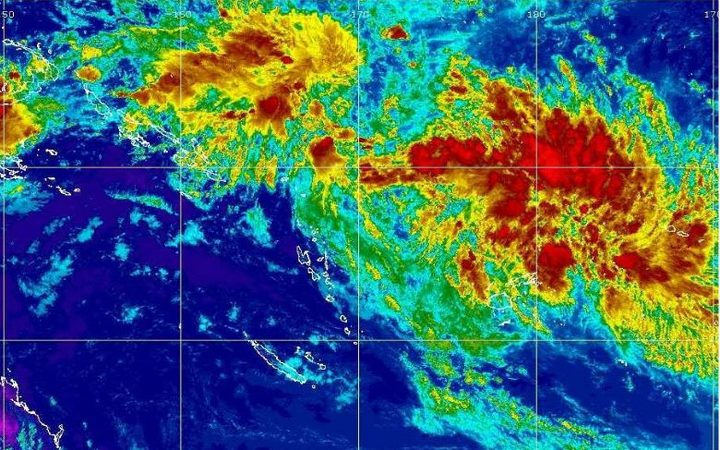 The tropical disturbance, TD04F, is brewing to Fiji's northwest. It's unlikely to develop into a cyclone, forecasters say.