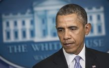 Barack Obama commended Ukraine's interim government for its 'restraint'.