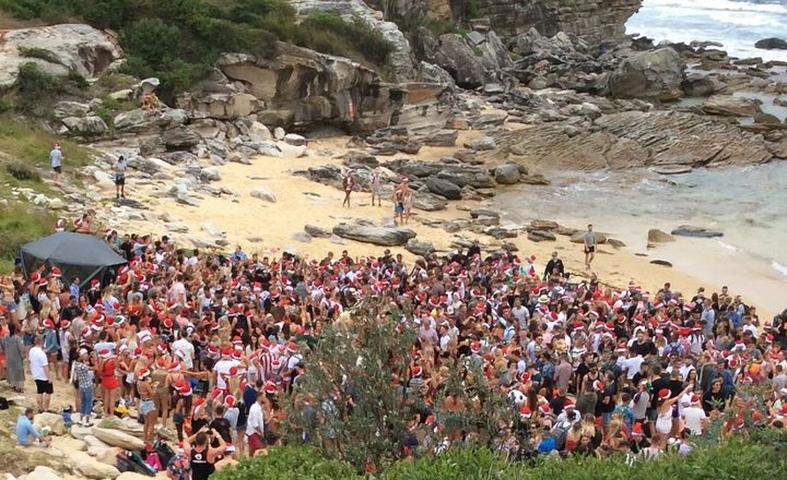 Two women were arrested at the beach party in Sydney.