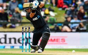 Ross Taylor top scored for the Black Caps.