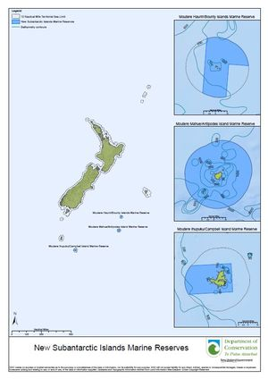 Map of marine reserves.